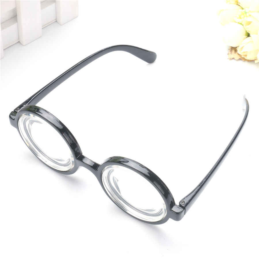 2fc58f9a12b ... Vintage Round Harry Potter Frame Costume Glasses Clear Thick Lens  Graduation Photobooth Props Birthday Party Supplies ...