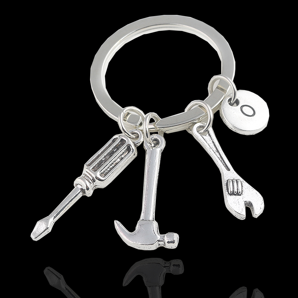 Tool Repair Keychain Hammer Wrench Screwdriver Keyring Gift For Father Fathers Day