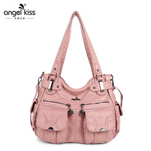 2019 New Arrival Multi Pockets Soft PU Leather Shoulder Bag Luxury Large Capacity Shipping Travel Crossbody Handbag pu leather metal multi zips handbag