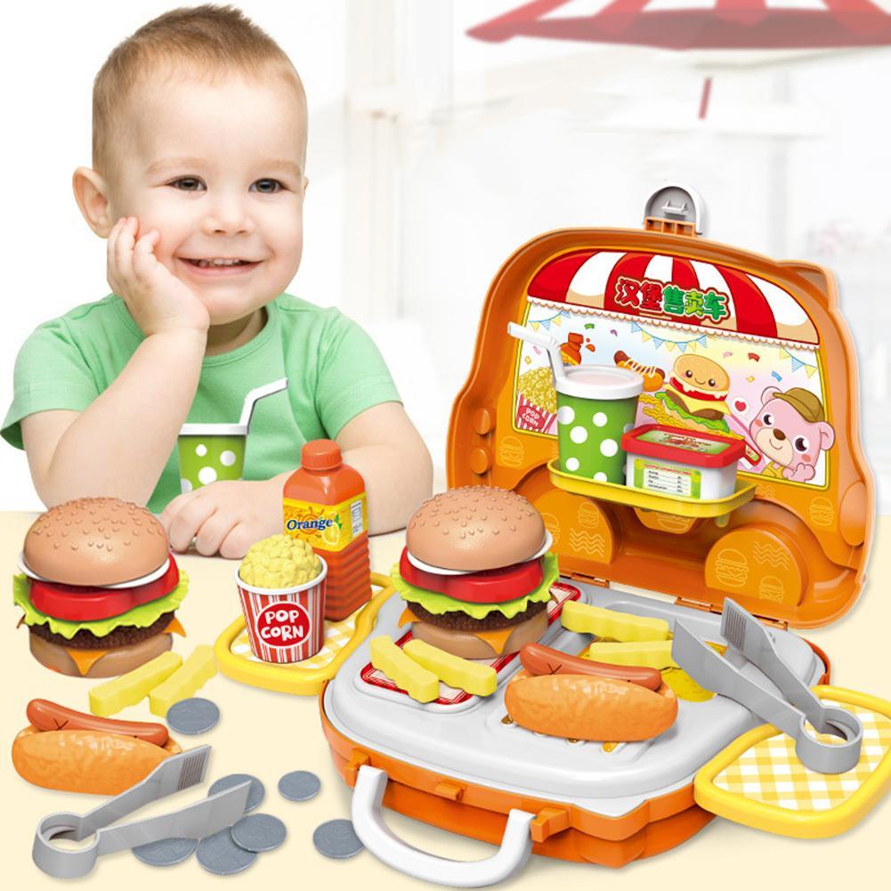 Children's Burger Sale Car Makeup Play House Toy Set Vehicle Set Baby Toys Pretend Hamburger/Make Up Pretend Toy guidecraft usa pretend