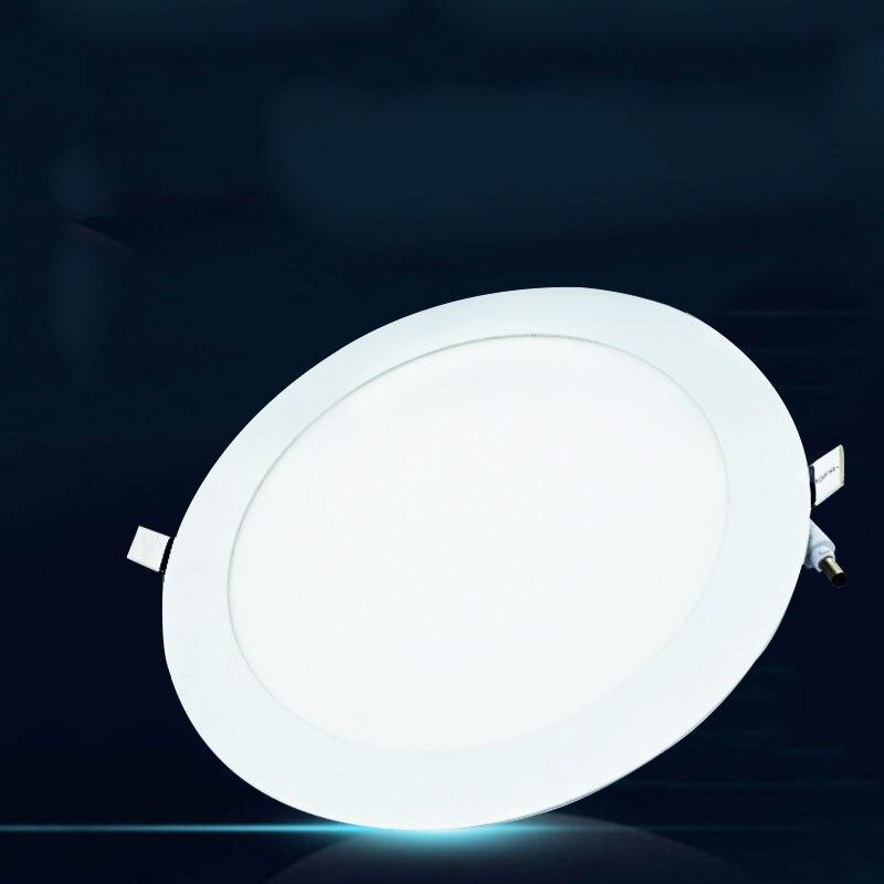 Холодный белый 18 Вт LED Круглый Встраиваемые Потолочные Панель светильники лампы бытовые Интимные аксессуары Прямая доставка