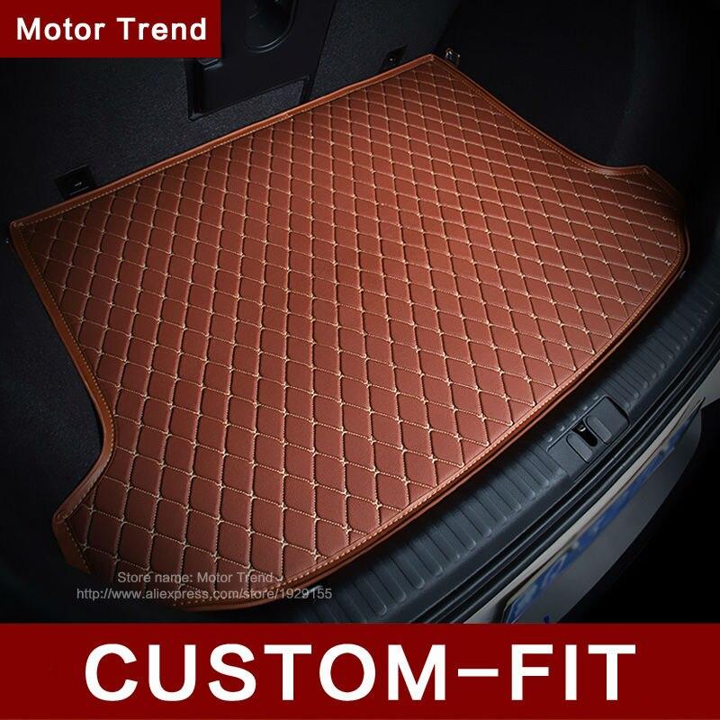 ФОТО Custom fit car trunk mat for Ford Edge Escape Kuga Fusion Mondeo Ecosport Explorer Focus Fiesta car styling carpet cargo liner