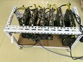 120M/S ETH miner Ethereum Dash / DarkCoin X11 Multifunction ore chip R9 380 4G card * 6   shipping send DHL Practical rack.