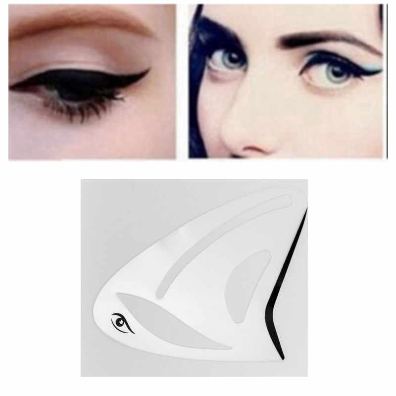 1pc Multifunction Eyeliner Stencils Cat Eye Stencils Eyeshadow stencils Eye Models Quick Makeup Auxiliary Tools Free Shipping