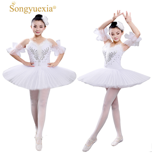8ebc1fafa Adult Professional Swan Lake Tutu Ballet Costume Hard Organdy Platter Skirt  Dance Dress 6 layers