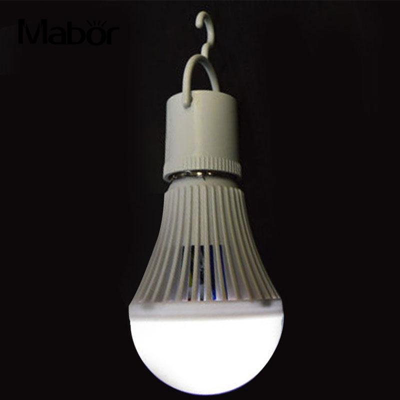 LED E27 Bright Intelligent Emergency 5W Lamp Light Bulb Rechargeable Lamps White