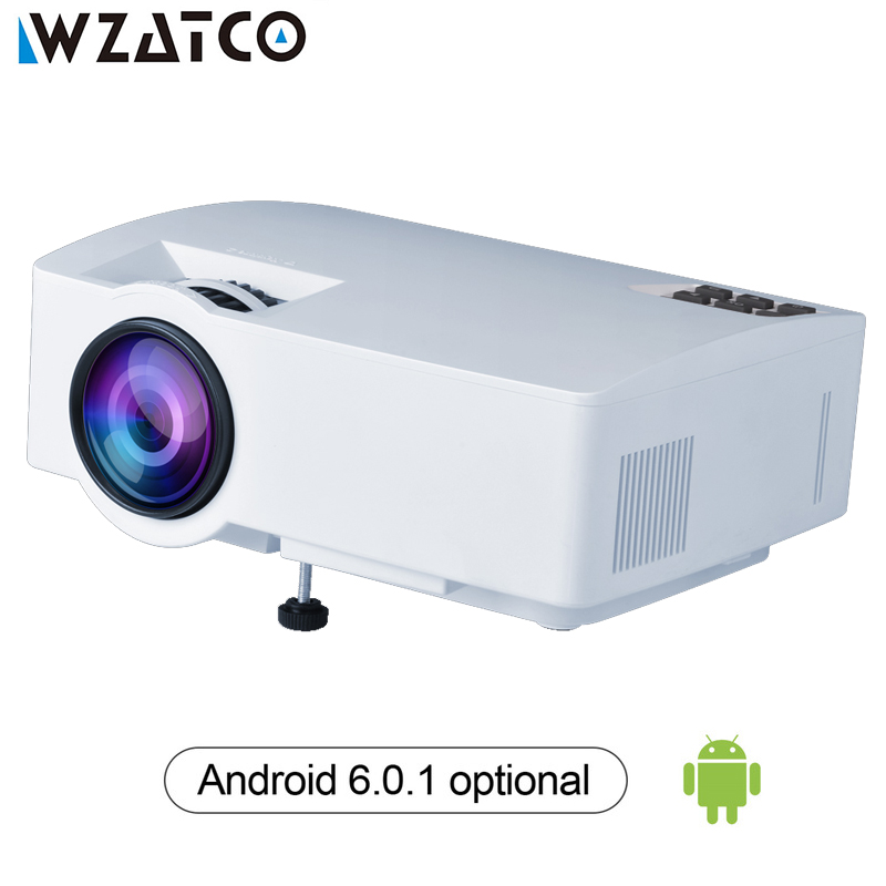 WZATCO Z8 Projector 1800Lumens For Home Theater HDMI Support Full HD 1080P Optional Android 6.0 Wifi Smart Beamer LED Proyector ls1280 entertainment home theater projector hybrid laser led led lights high lumens beamer home cinema 23 languages pk xgimi