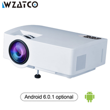 WZATCO Z8 Projector 1800Lumens For Home Theater HDMI Support Full HD 1080P Optional Android 6.0 Wifi Smart Beamer LED Proyector