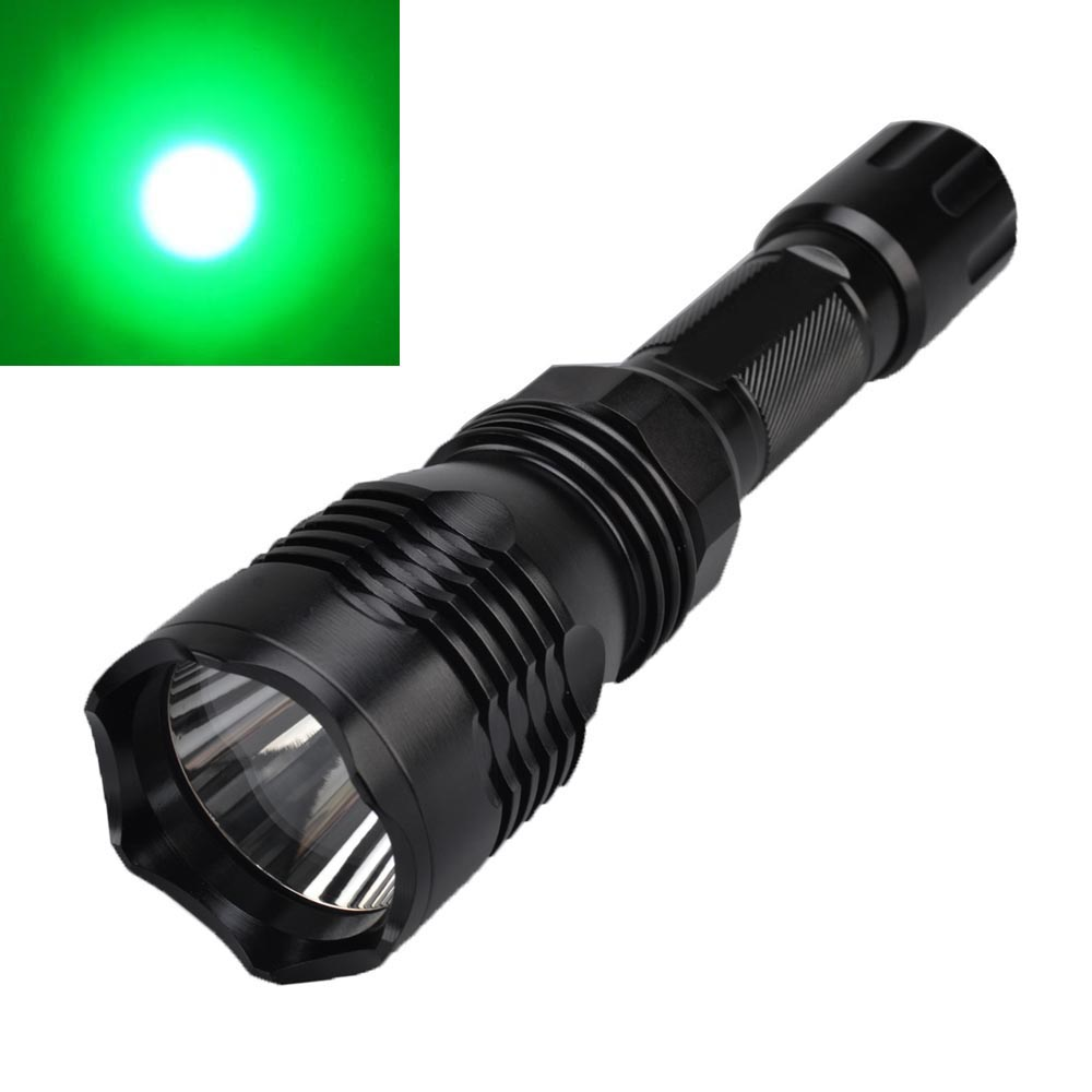 At All Costs Trend Mark Sf-76c 620lm 1-mode Green Light Led Flashlight Xp-e R2 Hunting Tactical Flashlight Green Led Lamp Torch 1x 18650