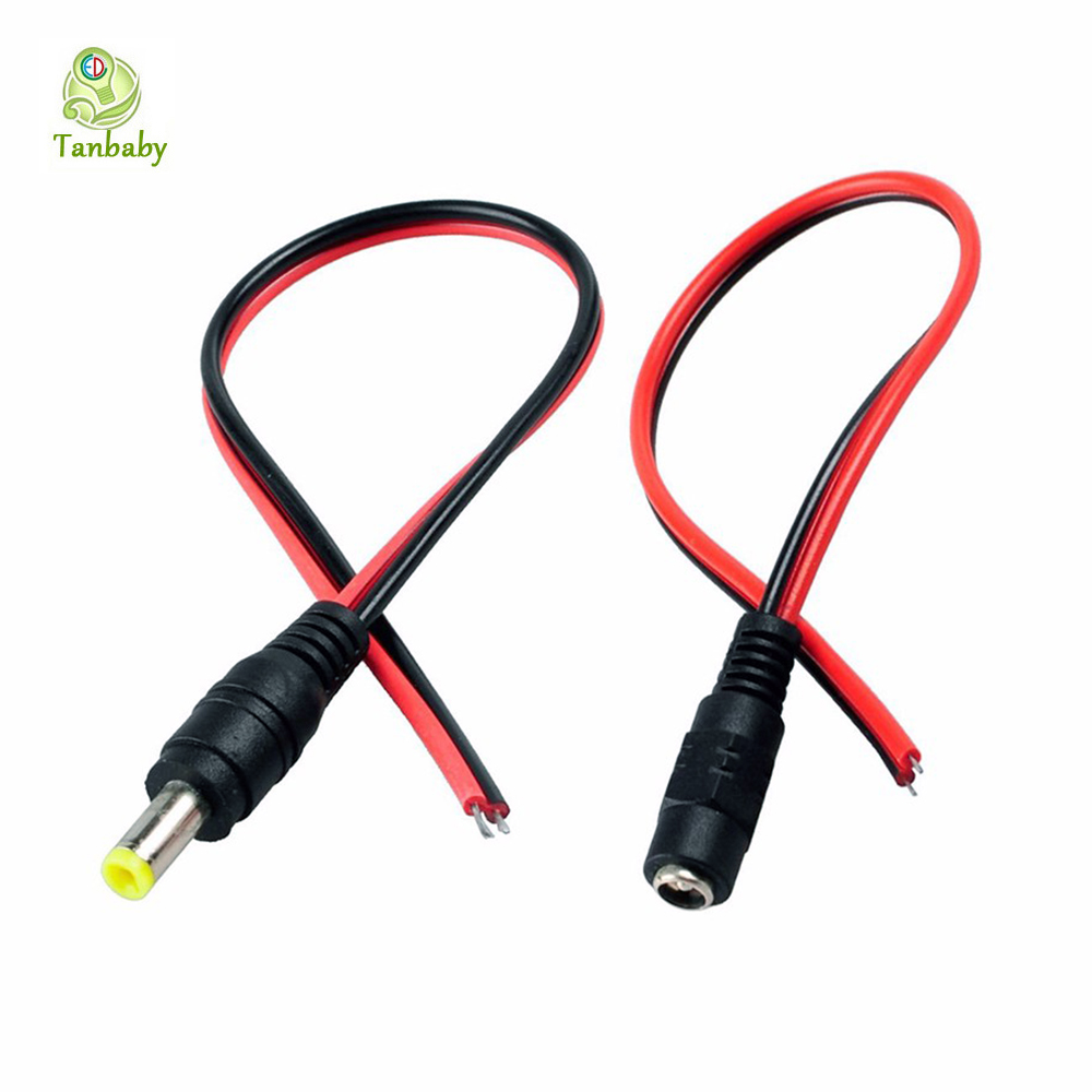 Tanbaby 1pcs 30cm extension connect wire 5.5*2.1mm Female & male Cable Plug Wire Power Socket for strip CCTV Camera DC 12V 2015 new 10pcs lot dc power extension cable 5 meter 16 5ft to 5 5mmx2 1mm male plug for cctv camera 12 volt extension cord