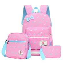цена на Girls Primary school backpacks set kids Book bag children School Bags orthopedic schoolbag backpack kids sac mochila infantil