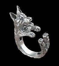Оптовая продажа Ретро панк кольцо немецкой овчарки свободного