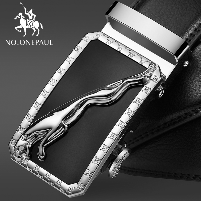 NO.ONEPAUL Fashion Designers Automatic Buckle Genuine Leather Men Business High Quality Luxury Strap Male Belt For Strap Male