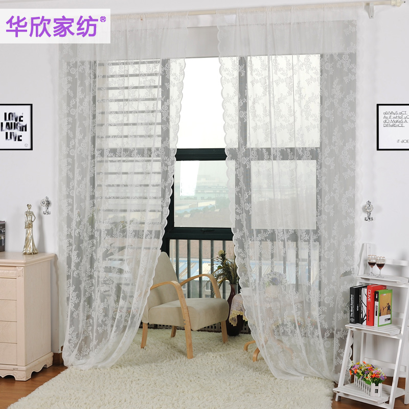 Finished Lace Curtain Transparent Cutout White Curtains For Living Room Morden Sheer Window In From Home Garden On Aliexpress