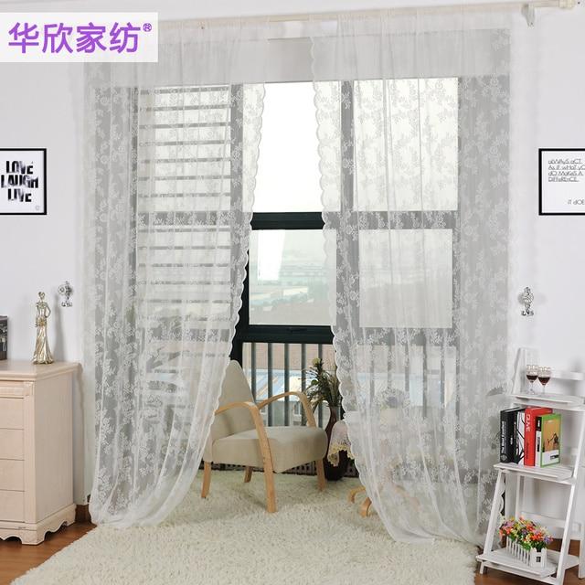 Comprar terminado cortina de encaje for Cortinas blancas