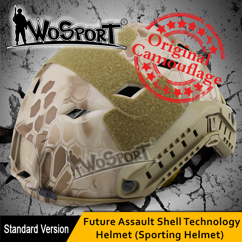 WOSPORT Tactical Helmet Outdoor Airsoft Paintball BJ-type ABS Combat Jump Military Army Hunting War Game Protective Fast Helmet