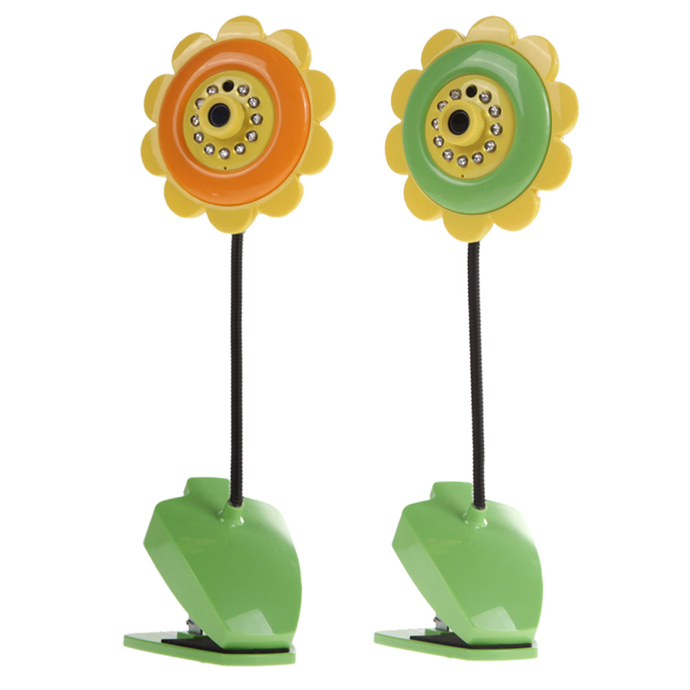 Sunflower design wireless camera baby monitor for Home Security with Wifi Camera DVR Night Vision Green