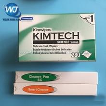 3PCS Fibra Ottica Intelligente Cleaner Penna SC/ST/FC 2.5 millimetri + LC/MU 1.25 millimetri fibra Ottica Strumento di Pulizia + 280 pz/scatola In Fibra Ottica di Pulizia
