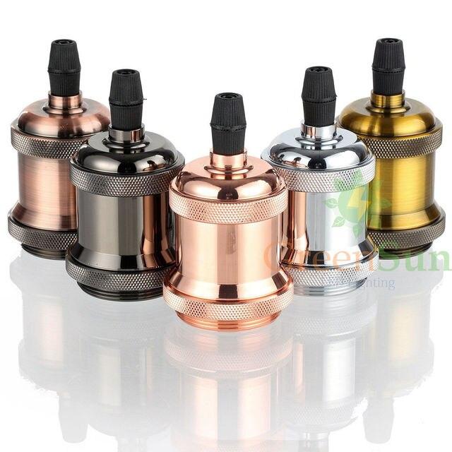 Armaturen industrie  Vintage Edison Pendelleuchte Halter E27 Schraube Glühbirne Basis ...