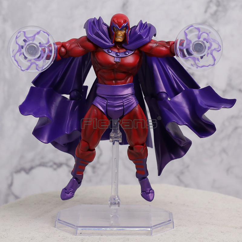 Marvel X-MEN Magneto Revoltech Series NO.006 PVC Action Figure Collectible Model Toy 14cm 2015 new free shipping marvel super hero x men wolverine pvc action figure collectible toy 1231cm with box