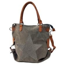 Bolso de hombro de lona de estrella de diamante de alta calidad 2020, bolsos multifuncionales de cuero de moda handel, bolsos de gran tamaño