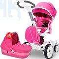 Suspensión de dos vías del bebé cochecito paisaje de alta moda conveniente bebé sentarse mentira BB plegable polo carros