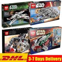 Lepin Star Wars 05151 05039 Red Five X wing Star Fighter 05037 05007 Building Blocks Bricks LegoINGlys 75060 10240 75105 75222