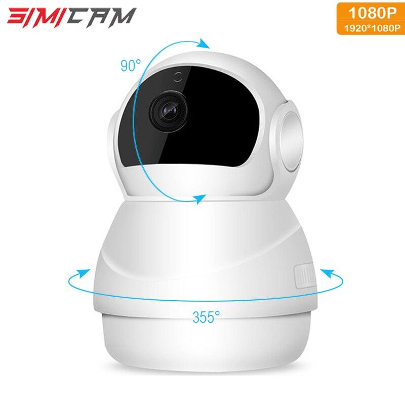 Cctv wifi completo hd 1080 p câmera de segurança em casa ip sem fio two-way áudio mini 2mp câmera de visão noturna cctv monitor do bebê sem fio