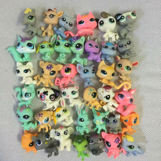 Hot 10pcs Lps Toy Pet Shop Mini Small Animal Pet Doll Cute Cat Dog