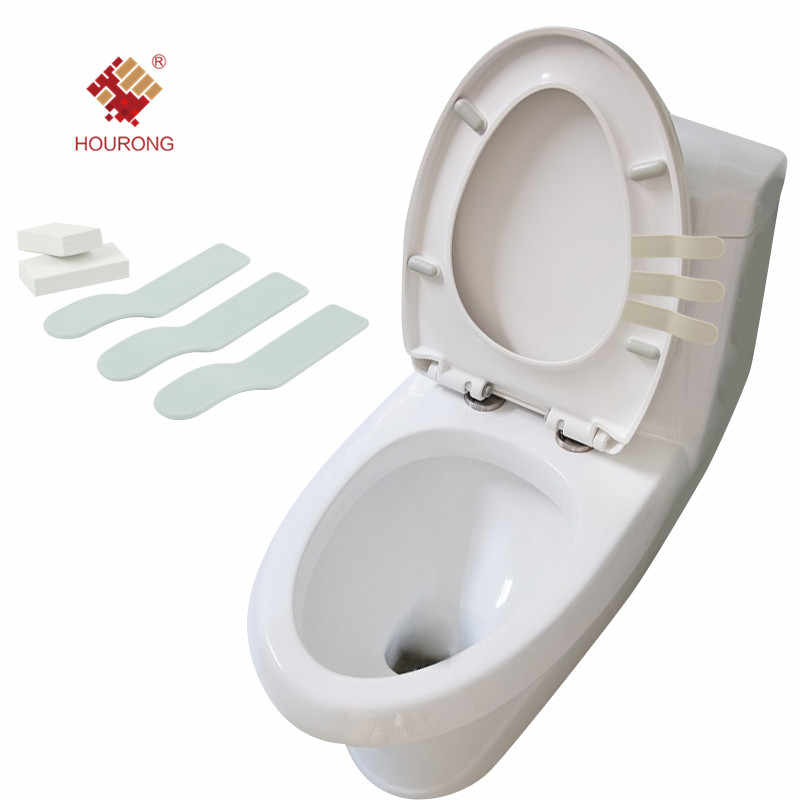 3 Pcs Bathroom Toilet Seat Lifter Toilet Seat Cover Sticking Lifter Handle Hygienic Clean Supplies Cover Handle
