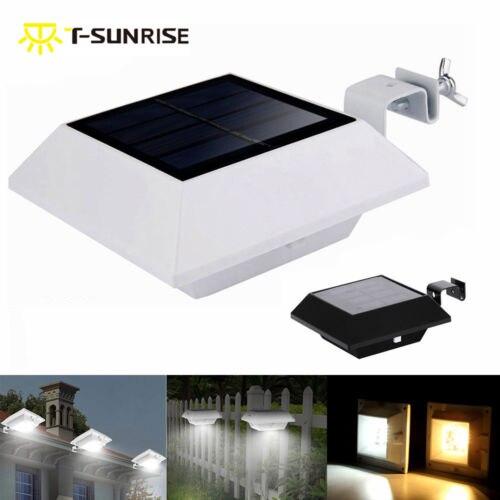 T-SUN 6 LED 12 LED Licht Sensor Lampe Licht Wasserdichte Solar Powered Lampe Wand Montieren Lampe Nacht Licht für Outdoor garten Terrasse