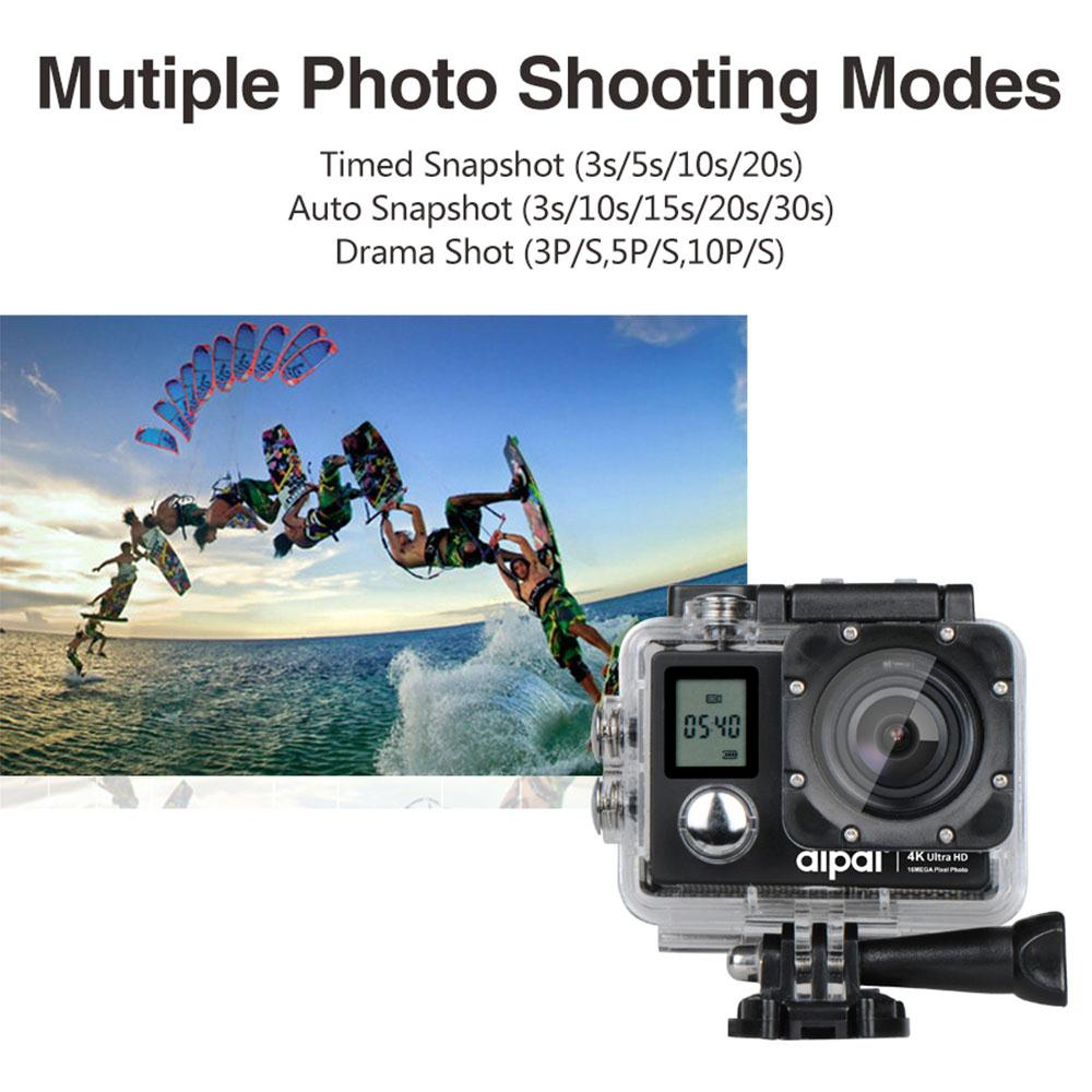 Aipal Action Camera Full HD 4K 1080P/60FPS WiFi 2.0 LCD Double Screen 16MP 170 Degree Wide Angle Waterproof Sports DV Video Cam wholesale fpv camera mini 4k 170 degree wifi dv action sports camera video camcorder