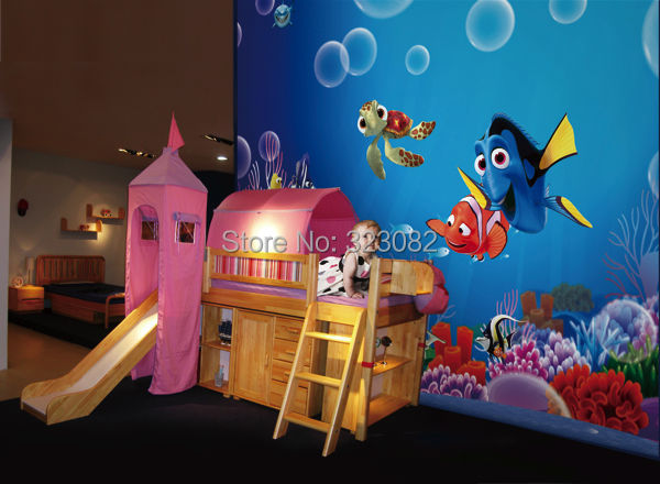 Awesome ... High Quality Finding Nemo Cartoon 3d Mural Wallpaper Papel De Parede 3D Wall  Murals Contact Paper ... Part 17