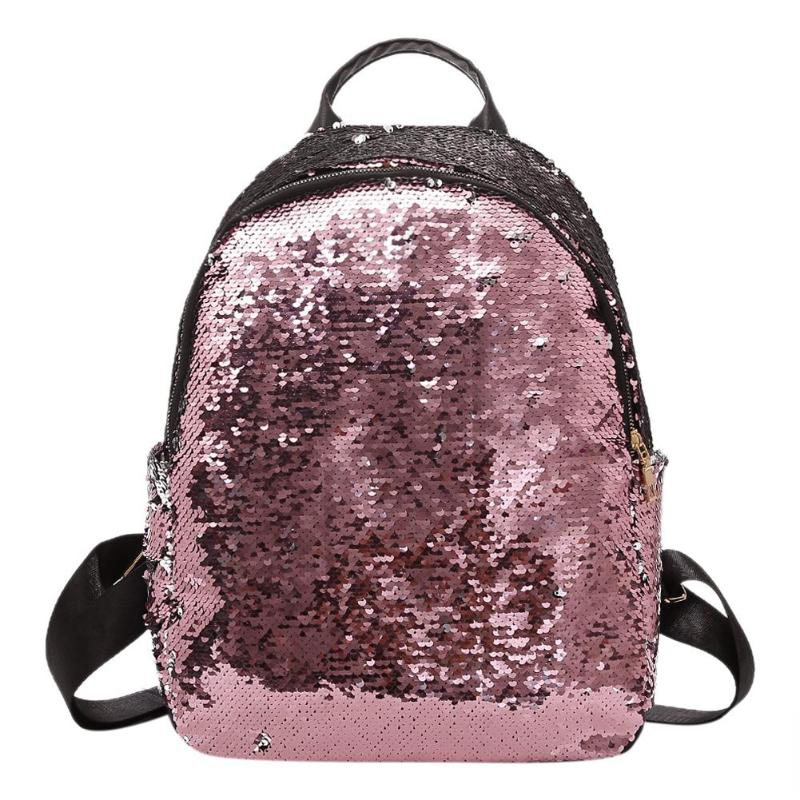Detail Feedback Questions about Glitter Backpack Women 2018 Summer Sequin  Backpacks Teenage Girls Bling Small Back Pack Fashion School Bag Mochilas  Drop ...