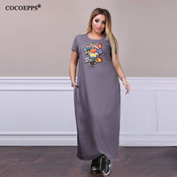 3d72440e6b199c 2019 6XL Floral Maxi Dresses Large Sizes Women Casual Beading Loose Long  Dress Plus Size Embroidery. (79). Bekijk Aanbieding. Grote maat vrouwen ...