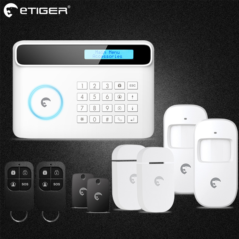Wireless Home Security GSM Alarm system APP Remote Control RFID card Arm Disarm Home Alarm Kits недорого