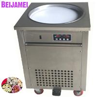 BEIJAMEI High quality single round fry ice cream maker roll 110v 220v thailand rolled fried ice machine price