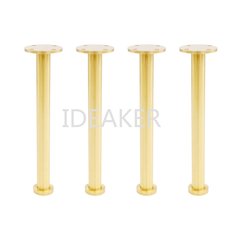 4PCS 5x21x3CM Adjustable Furniture Legs Copper Furniture Feet Cabinet Table Sofa Feet 4pcs 150mm height furniture legs adjustable 10 15mm cabinet feet silver tone stainless steel leveling feet for table bed sofa