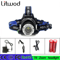 Z30 Headlight T6 L2 Led Headlamp Zoom Flashlight Adjustable Head Lamp 5000lm XM L 18650 Battery