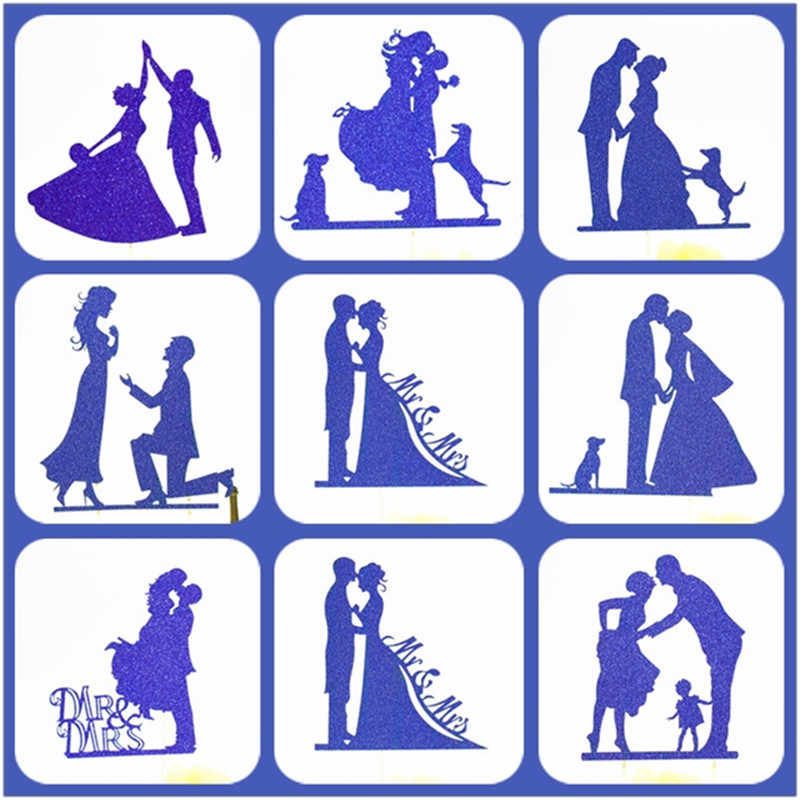 Cake Topper Wedding Blue Party Supplies Bride And Groom Cake Topper Weeding Decoration For Weddings Mr Mrs Wedding Cake Topper