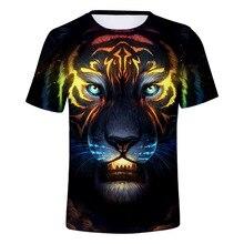 2019 Summer 3D Short Sleeve T-Shirt Boy T-shirt Gorilla Face Baby Girl Cartoon Tiger Top for Kids