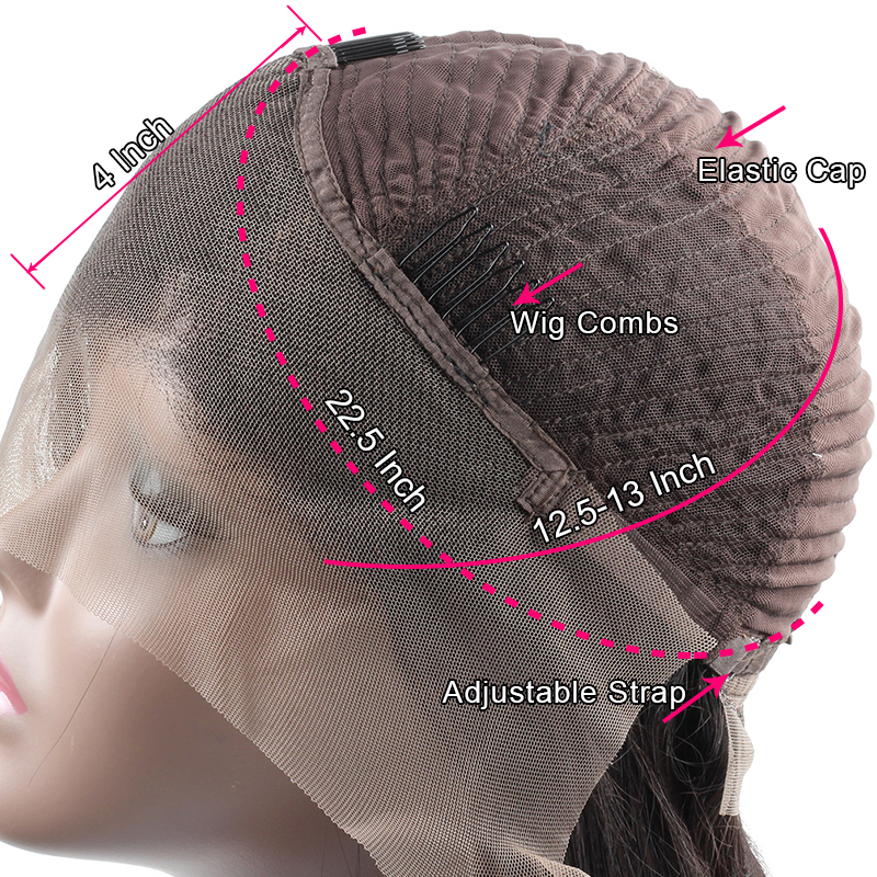 Ishow Short Curly Wigs 13X4 Lace Front Human Hair Wigs 180% Density Pre-Plucked Hairline with Baby Hair Brazilian Remy Hair Wigs