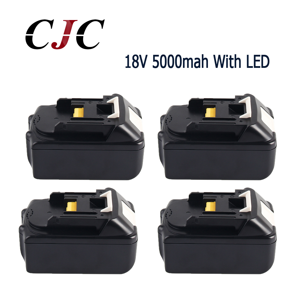 4PCS 18V 5000mAh Li ion Power tools Replacement battery For Makita BL1815 BL1850 LXT400 BL1840 Rechargeable battery with LED 18v 6000mah rechargeable battery built in sony 18650 vtc6 li ion batteries replacement power tool battery for makita bl1860