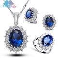 Мисс Леди Горный Хрусталь Кристалл Уильям Кейт Королева свадебные свадебное Комплектов Ювелирных Изделий Серьги Ожерелья Кольца для женщин