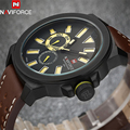 NAVIFORCE Brand Men Waterproof Leather Quartz Watch Casual Sports Date Wristwatches Relogio Masculino 2016 Retro Watches LX31