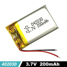 402030 Polymer lithium Battery 042030 3.7V 200mAh For Bluetooth Keyboard Recorder Pen earphone e-book MP3 Mp4 Watch Toy GPS цена