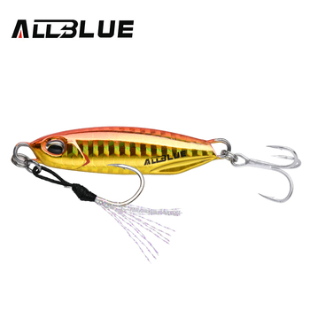 ALLBLUE New DRAGER Metal Cast Jig Spoon 15G 30G Shore Casting Jigging Lead Fish Sea Bass Fishing Lure  Artificial Bait Tackle 8