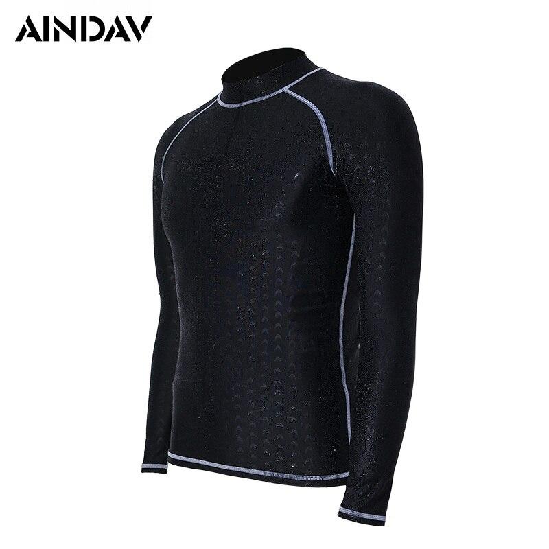 d6f7ddd3f9df Profesional de las mujeres de los hombres traje de manga larga traje de  protección solar UV piscina camisas traje de buceo negro surf Junta prisa  ...