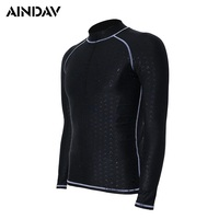 Professional Men Women Wetsuit Long Sleeve Swimsuit Sunscreen UV Swimming Shirts Diving Suit Black Surfing Board