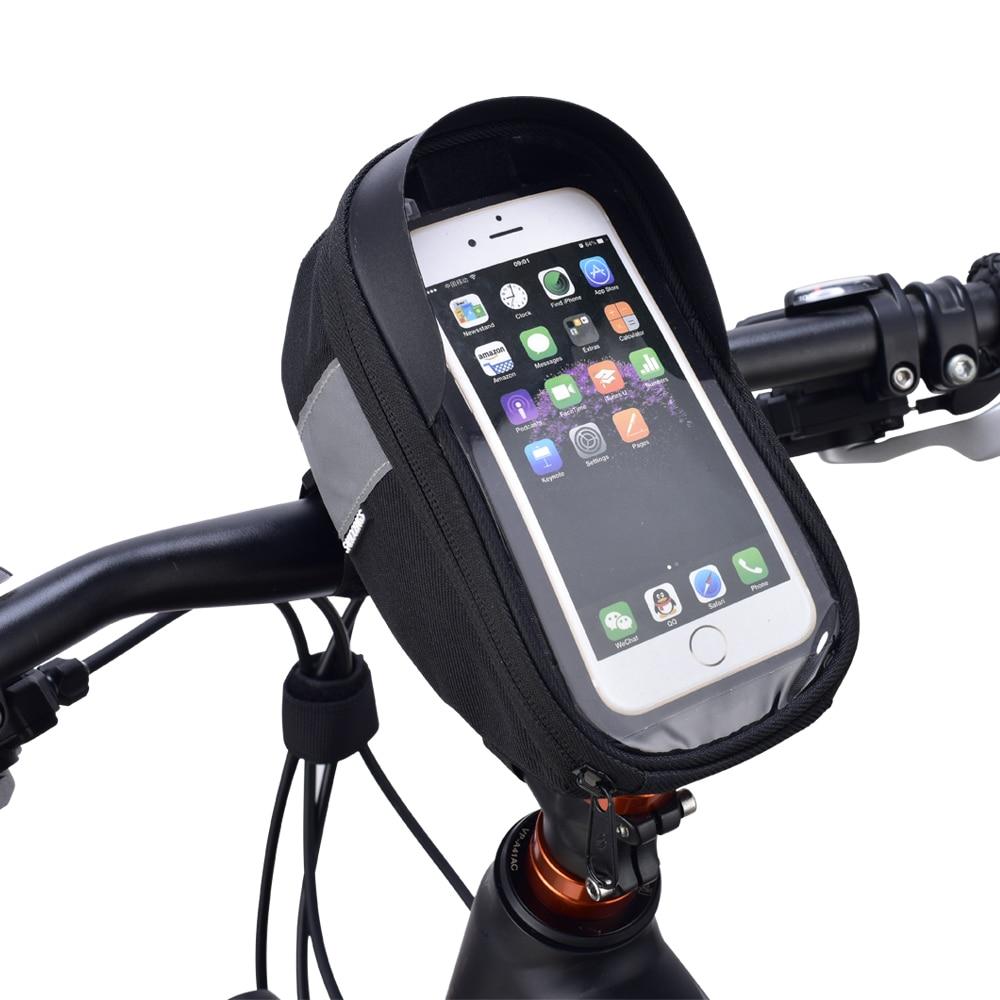 Roswheel Sahoo 112003 Велоспорт велосипедный спорт велосипед Глава трубки Руль управления для мотоциклов сотовый мобильный телефон сумка чехол держ...
